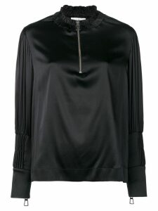 Each X Other pin tuck satin blouse - Black