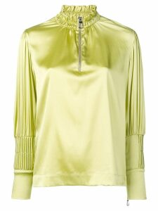 Each X Other pin tuck satin blouse - Green