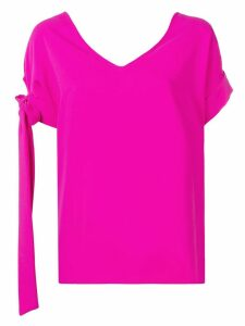 P.A.R.O.S.H. side bow detail blouse - PINK