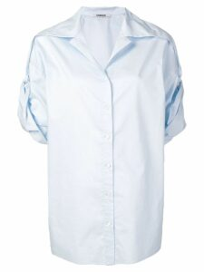 Chalayan turned-up sleeve blouse - Blue