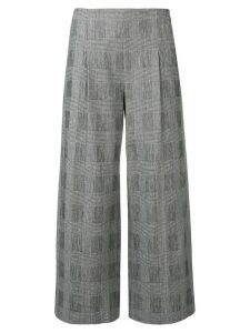 Chalayan cropped checked trousers - Black