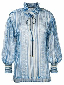 Philosophy Di Lorenzo Serafini tie neck blouse - Blue