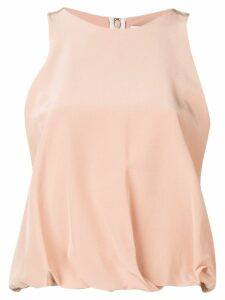 Chalayan draped hem blouse - NEUTRALS