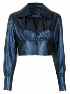 Andrea Bogosian leather jacket - Blue
