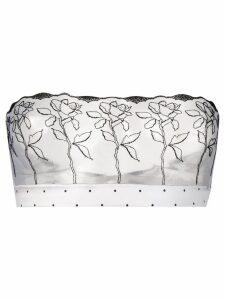 Fleur Of England flower print strapless boudoir bra - White