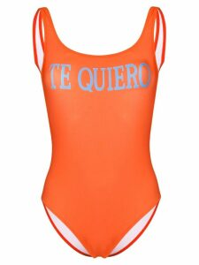Alberta Ferretti graphic one-piece - ORANGE