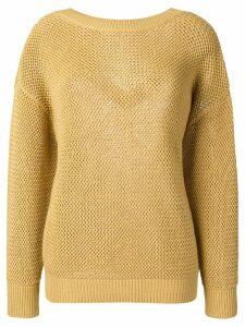 Nina Ricci drop shoulder sweater - Neutrals