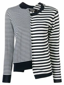 Junya Watanabe deconstructed striped sweatshirt - Blue