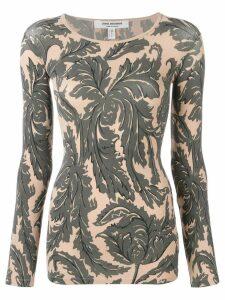Junya Watanabe floral print fitted sweatshirt - NEUTRALS