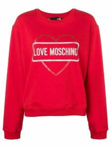 Love Moschino logo heart print sweatshirt - Red
