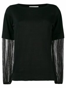 Fabiana Filippi contrast sleeves jumper - Black