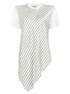 Monse asymmetric striped T-shirt - White