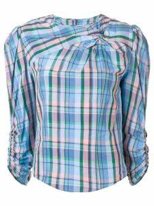 Isabel Marant Esmee plaid top - Blue