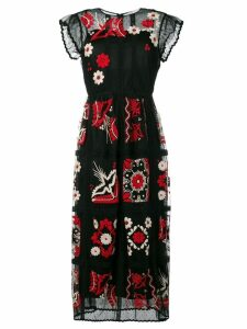Red Valentino embroidered maxi dress - Black