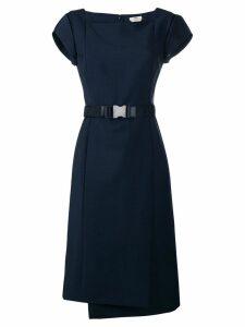Fendi belt panelled dress - Blue