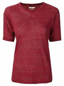 Isabel Marant Étoile striped T-shirt - Red
