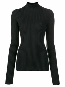 Victoria Beckham ribbed turtleneck jumper - Black