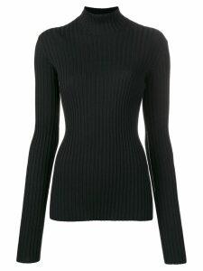 Victoria Beckham ribbed turtleneck jumper - Black