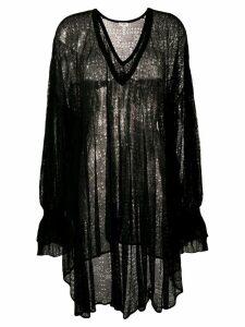 Saint Laurent oversized sheer blouse - Black