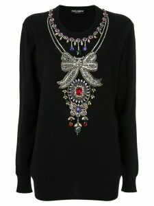 Dolce & Gabbana jewelled jumper - Black