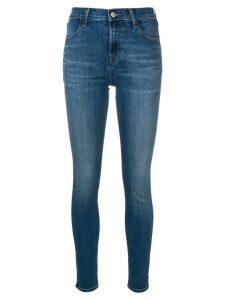 J Brand high-waist skinny jeans - Blue