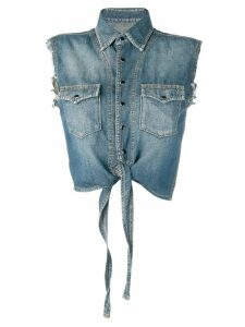 Saint Laurent sleeveless denim shirt - Blue