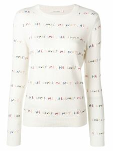 Chinti & Parker He Loves Me jumper - White