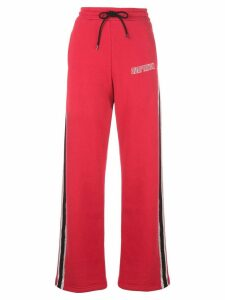 Adaptation side stripe track pants - Red