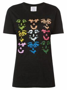Rosie Assoulin multicoloured face print T-shirt - Black