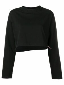 Unravel Project cropped drawstring sweatshirt - Black