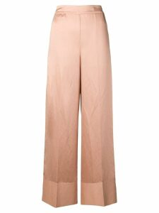 Semicouture high waisted wide leg trousers - NEUTRALS