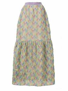 Missoni patterned maxi skirt - Green