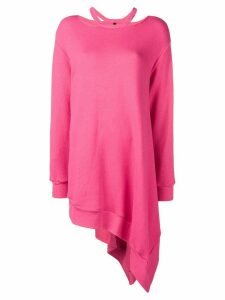 Unravel Project asymmetrical cutout sweatshirt - Pink