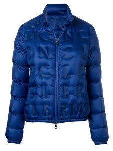 Moncler embossed logo padded jacket - Blue