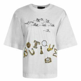 Boutique Moschino Bird Logo T Shirt