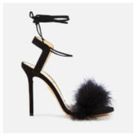 Charlotte Olympia Women's Salsa Feather Sandals - Black - EU 40/UK 7 - Black