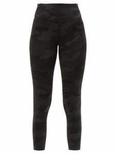 Figue - Poet Foil-print Crepe Blouse - Womens - Black Gold