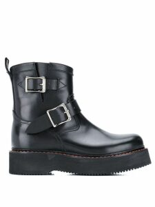 R13 single stack engineer boots - Black