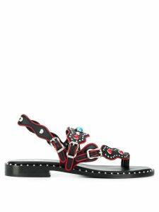 Ash Pacha studded sandals - Black