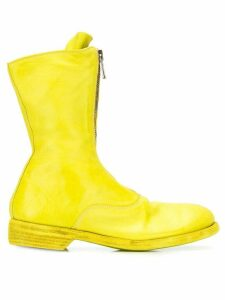 Guidi front zip mid-calf boots - Yellow