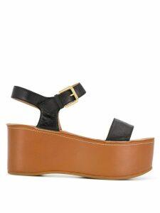 L'Autre Chose flatform sandals - Black