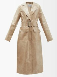 Temperley London - Starlet Sequinned Georgette Wrap Top - Womens - Light Pink