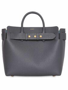 Burberry The Medium Leather Triple Stud Belt Bag - Grey