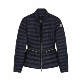 Moncler Agate Navy Quilted Shell Jacket