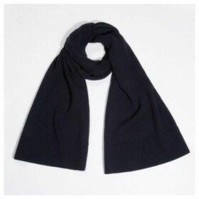 Wool-Cashmere Rib Edge Scarf