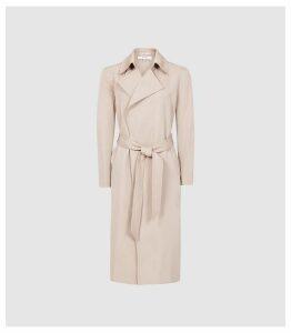 Reiss Darcie - Longline Mac in Pink, Womens, Size 14