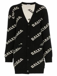Balenciaga Logo Cardigan - Black
