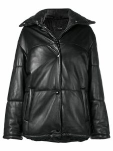 Manokhi padded drawstring jacket - Black