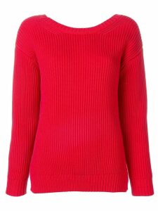 Chinti & Parker deep v-neck knitted sweater - Red