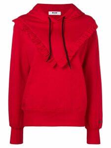 MSGM bib hoodie - Red